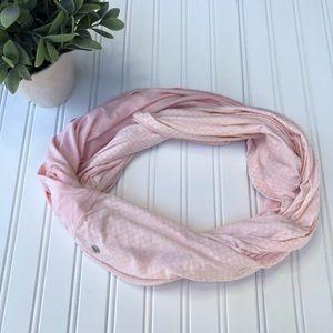 Lululemon Pink Twist & Shout Infinity Scarf